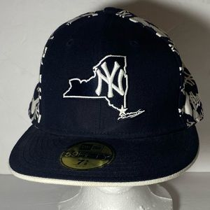 New York Yankees State Pattern Fitted Baseball Hat